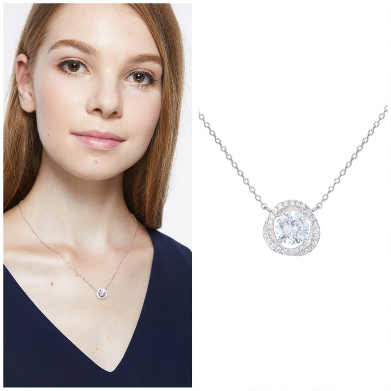 Only You Solitaire AAA Cubic Zirconia Pendant Necklace S925 Silver