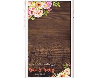 Floral Wedding Engagement Proposal Flowers Snapchat Filter