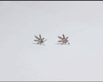 Tiny Silver Stud Earrings,  Very Small Earrings, Stud Earrings, Minimal Earrings, 925