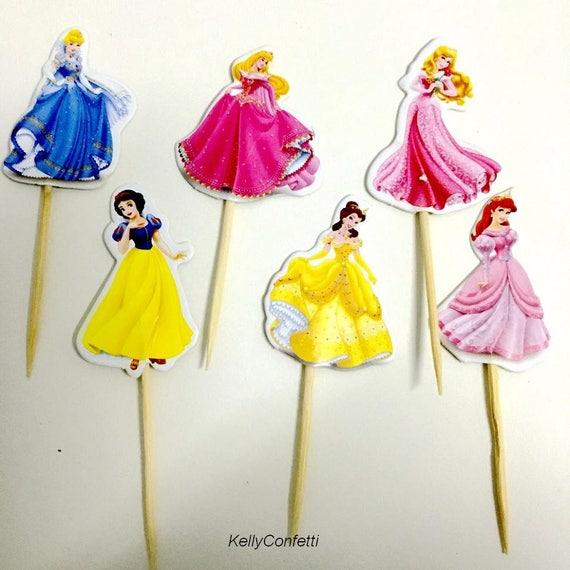 48Pcs Lot 6 Designs Of Princess Cupcake Toppers Cake