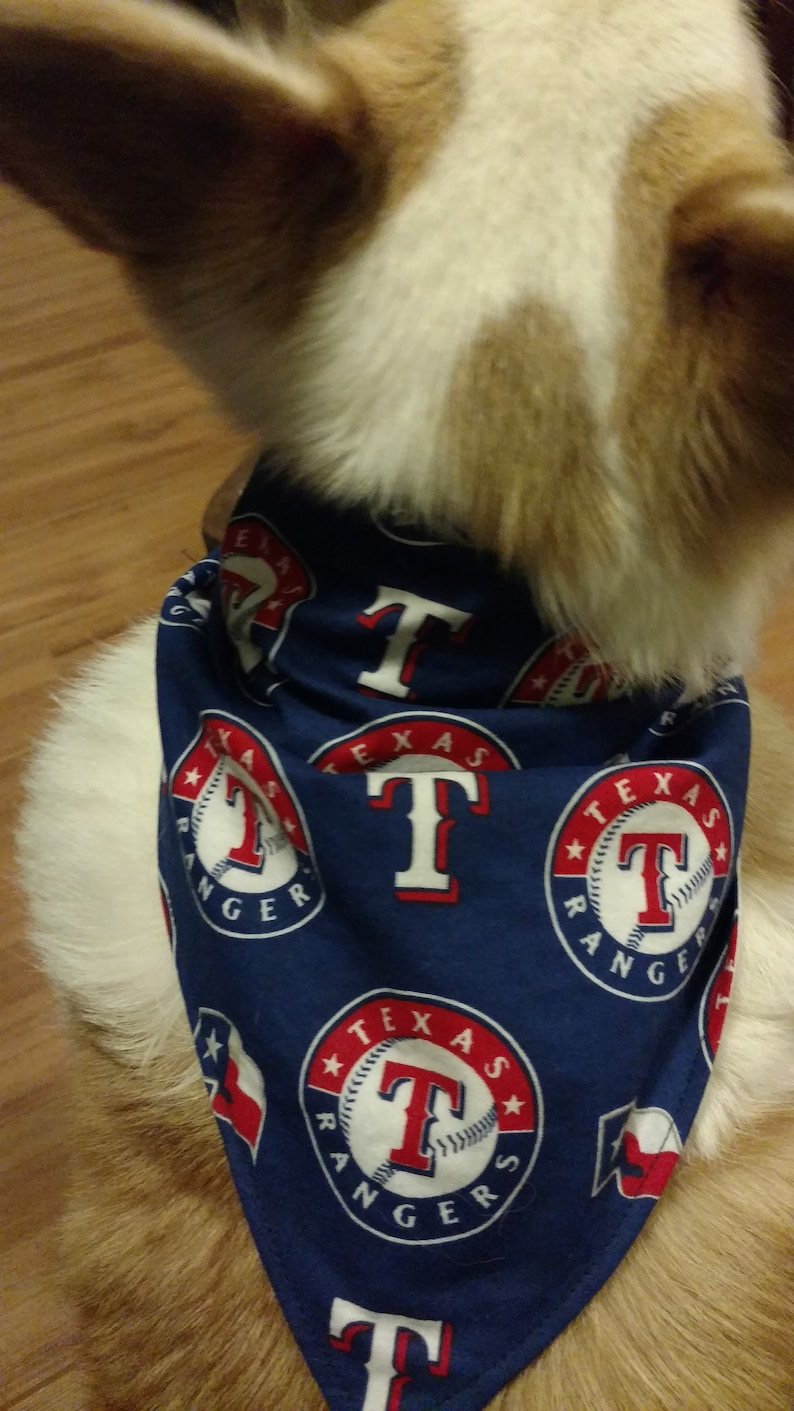 timeless design 28d0b 7822d Texas Rangers Baseball Bandana for Dogs and Puppies, Cats and Kitties