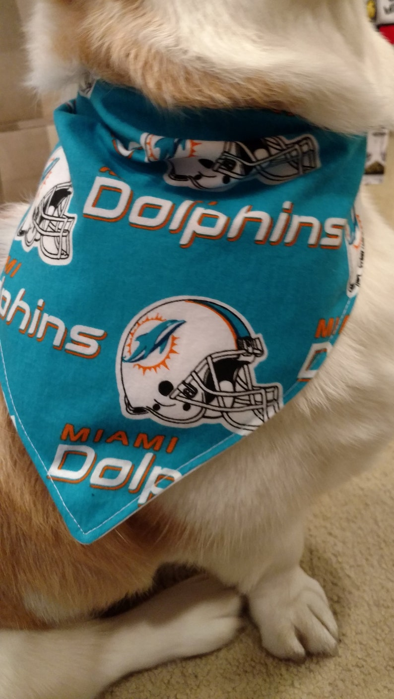 reputable site 0c170 1589a Miami Dolphins Football Bandanas for Dogs and Puppies, Cats and Kitties