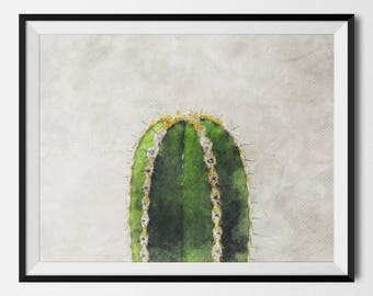 Cactus Print, Cactus, Botanical Print, Cactus Art, Cactus Wall Art, Succulent Print, Cactus Printable, Cactus Wall Decor, INSTANT DOWNLOAD