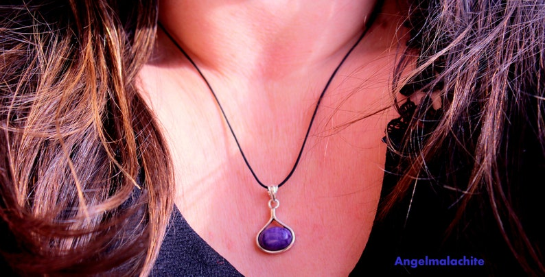 Charo\u00efte necklace women/'s accessory silver 925 gift idea emotional wounds jewelry Charo\u00efte stone woman necklace