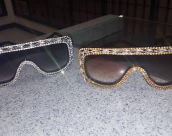 Sunglasses, Rhinestone Sunglasses, Dust Goggles,  Aviator Sunglasses, Oversize Sunglasses,  Labor Day Sale