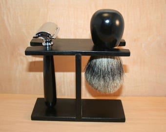 Gabon ebony shaving set