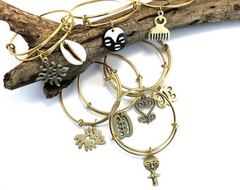 Solid-Brass Bangle: Gifts for Her, Handmade Jewelry, Unique Jewelry, African Jewelry, Boho Jewelry, Bracelets for Women, Adinkra Jewelry