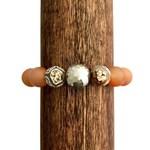 Carnelian Gemstone Beaded Bracelet With Hill Tribe Fine Silver, Intention Bracelet, Healing Stones, Positive Energy, Boho, Gift for Her