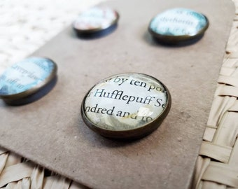 House Founders Book Page Magnets - Set of 4 Watercolor Painted Magnets