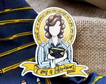 I am a Librarian Sticker / Laptop Decal