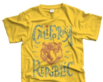 California republic vintage tshirt