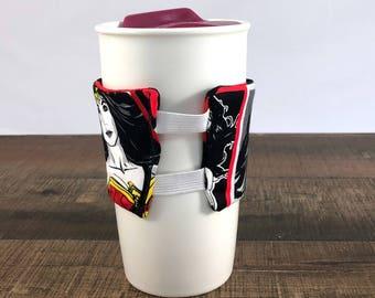 Wonder Woman Coffee Cup Cozy - Coffee Cup Sleeve - Reusable Cup Sleeve - Wonder Woman Gift - To Go Cup Sleeve - Wonder Woman - Coffee Lover