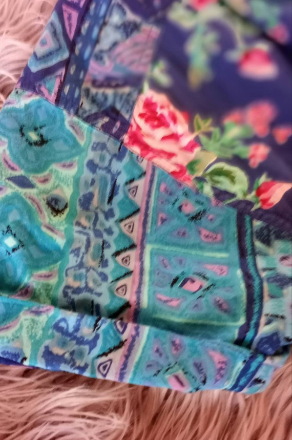 1980s Floral Gypsy Dress - image 3