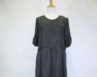 1920s silk dress with beading