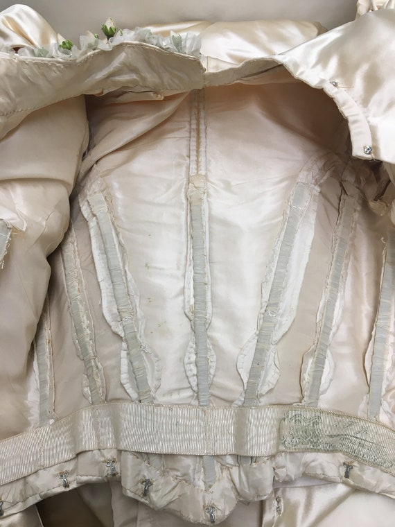 1890s XS Historical Wedding Bridal Gown, Bodice /… - image 8