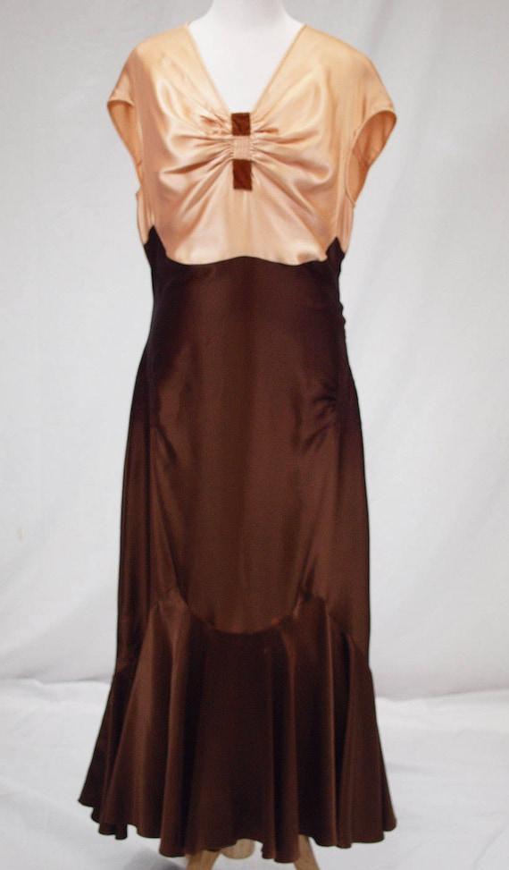 1930s silk charmeuse dress and jacket