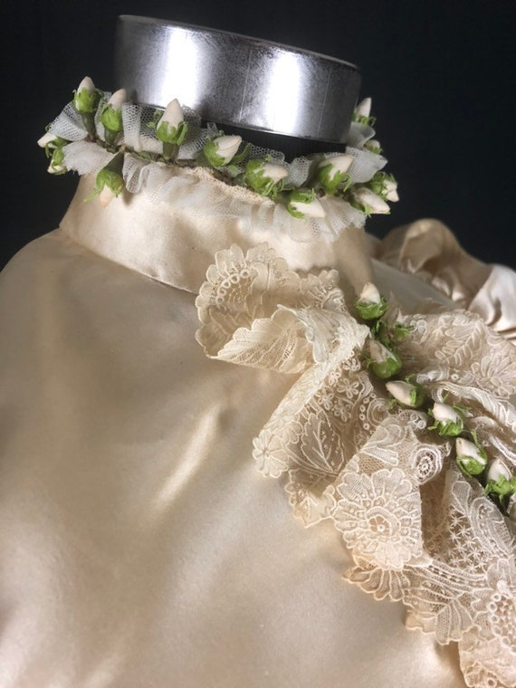 1890s XS Historical Wedding Bridal Gown, Bodice /… - image 7