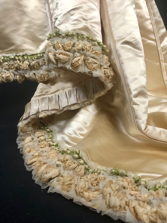 1890s XS Historical Wedding Bridal Gown, Bodice /… - image 5