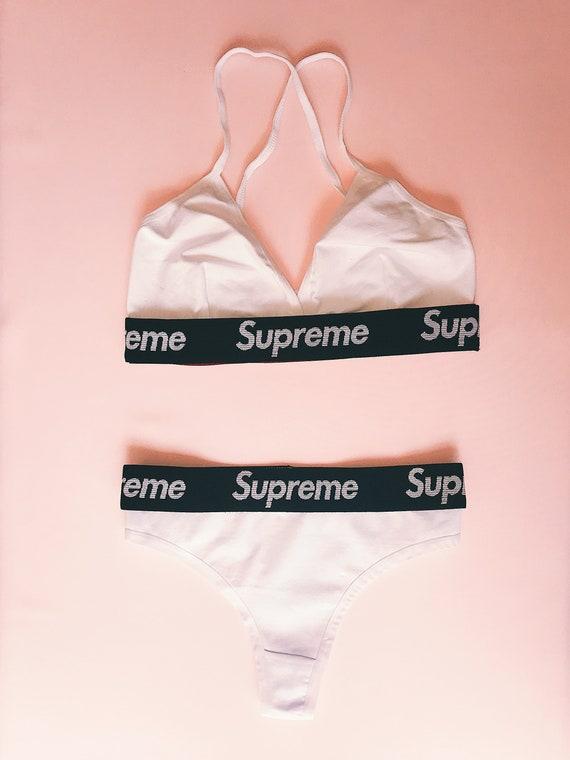 da387c53605b Reworked Supreme Underwear Set White/Black | Etsy