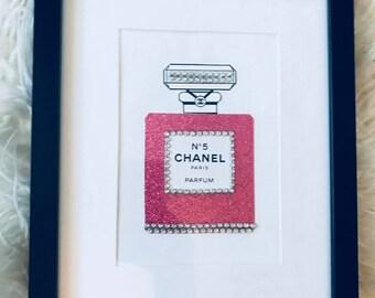 Chanel No.5 perfume bottle framed art - Glamorous