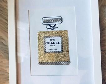 Chanel No.5 perfume bottle framed art