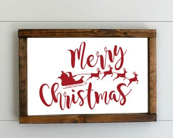 merry christmas wood sign reindeer sign wood christmas decor custom christmas sign christmas farmhouse decor christmas wooden decoration - Merry Christmas Wooden Sign