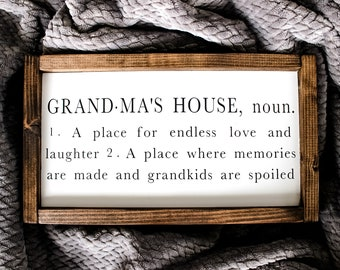 Grandma Sign Etsy