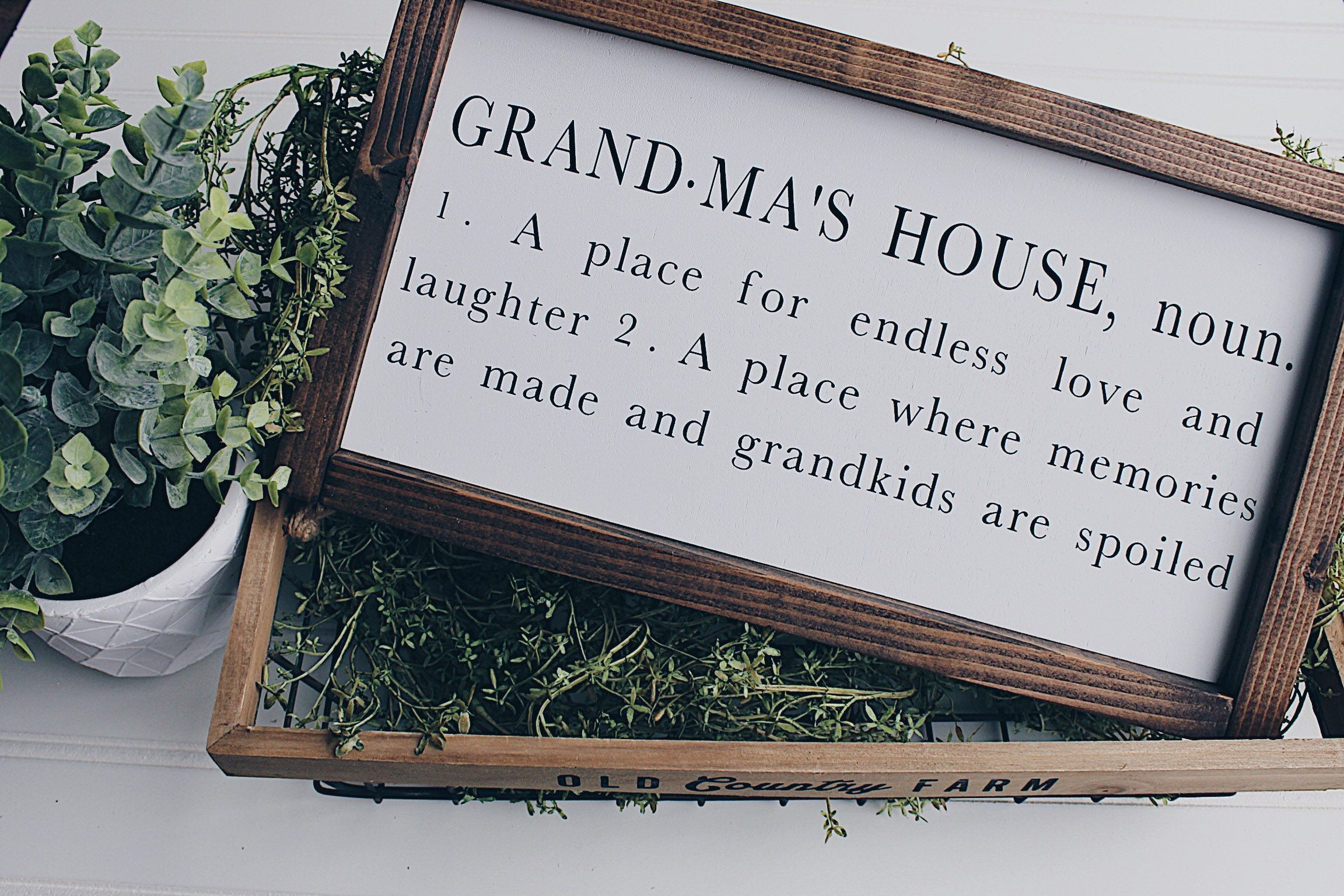 grandma s house definition wood framed sign grandma sign