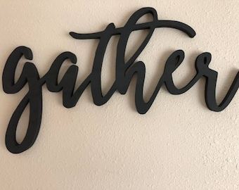 Gather Word Cutout Sign