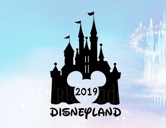 Disneyland 2019 Mickey Disney Castle Iron-On Transfer, Disney Family Shirt,  Disney Vacation, Mickey Mouse iron-on transfer