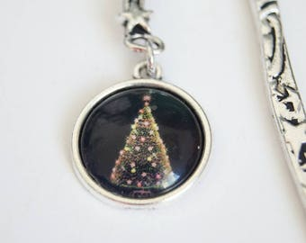Christmas tree - yellow tree bookmark
