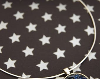 GALAXY STAR BLUE - CO018 ASANOHA CHOKER NECKLACE