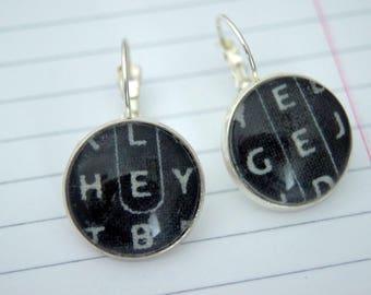 Words mixed Stud Earrings