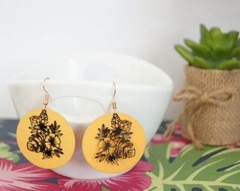 Hanging earrings, Tropical, model of your choice