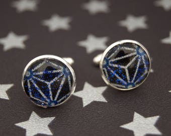 GALAXY STAR BLUE - BM018 ASANOHA CUFFLINKS
