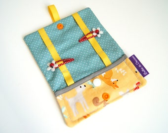 Small pouch tucks hair clips and accessories - Forest