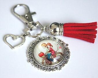 Keyring,customizable,bag jewel,Love,Motive of choice