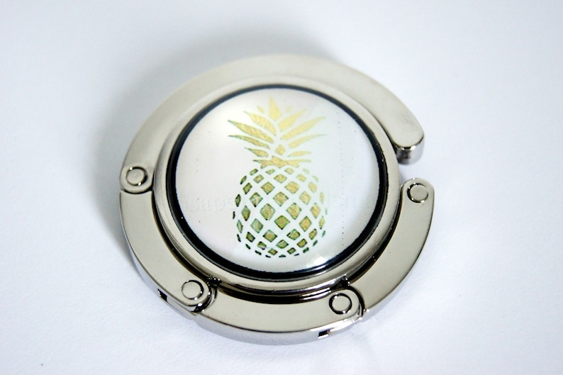 Bag grip customizable tropical black and gold model of Ananas