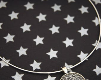 GALAXY STAR GREY - CO016 ASANOHA CHOKER NECKLACE