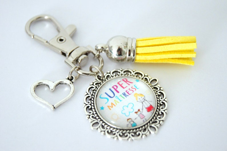 Customizable keyring bag jewelSuper Mistressmulticolored image 0