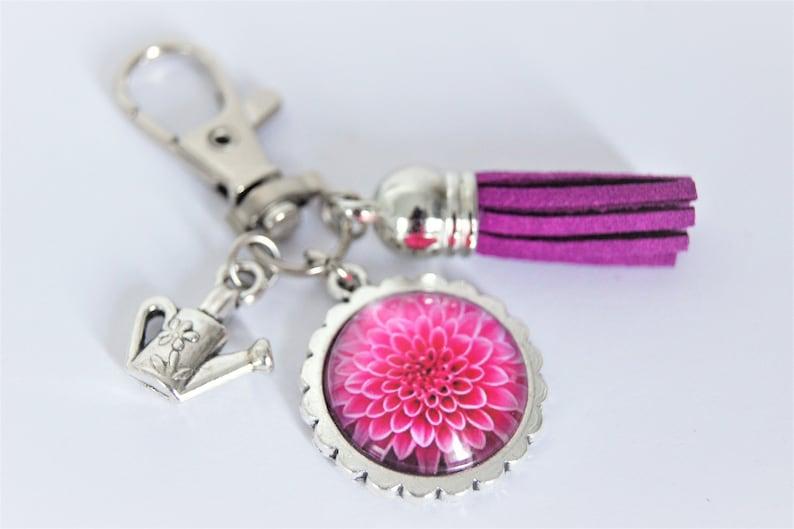 Keyringcustomizablebag jewelIn the gardenReason of choice Dahlia rose