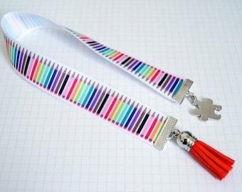 Pencil teacher gift idea or home - Ribbon bookmark