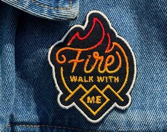 Fire Walk with Me Twin Peaks Fiery Gradient Patch