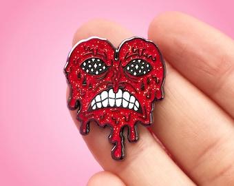 Melting Heart Glitter Hard Enamel Pin