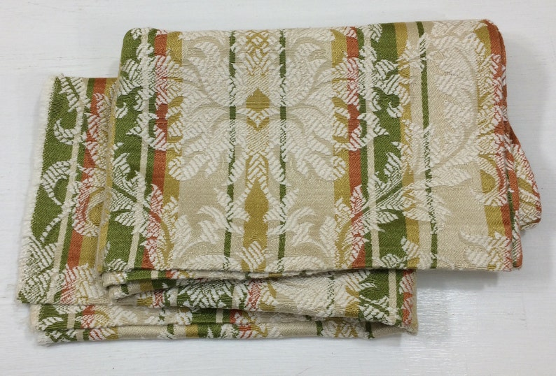 Woven Damask Stripe Pillow Craft Fabric Cotton Lampshade Hand Bag Cloth Scrap Book Design Reference Material