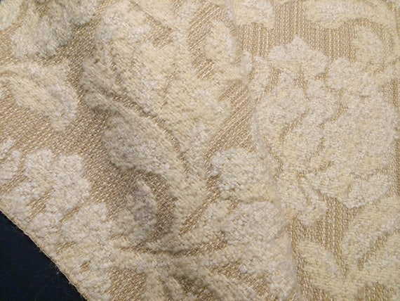 Gorgeous Mid Century Upholstery Fabric Linen Wool Cloth Etsy