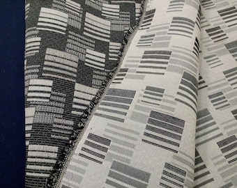 Geometric Upholstery Fabric Modern Industrial Cloth Hand Bag or Lampshade Decorator Material