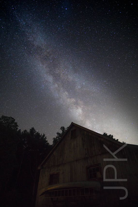 Milky Way and Barn, MidSummer, Western Massachusetts