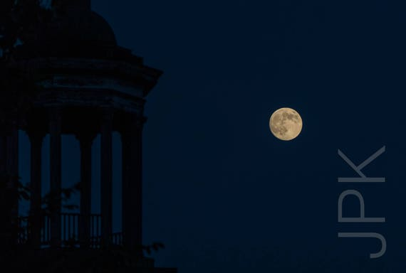 Full Moon with Cupola, Easthampton, MA