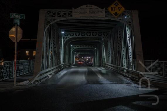 Shelburne Falls at night, Western Massachusetts